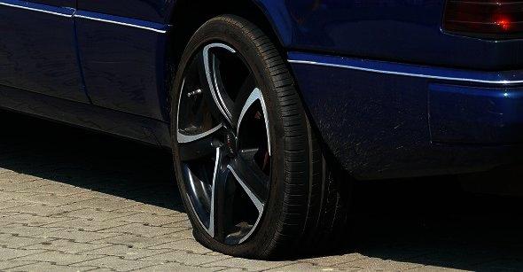 Defekt pneu