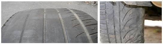 Opetřebení pneumatiky – špatná geometrie kol