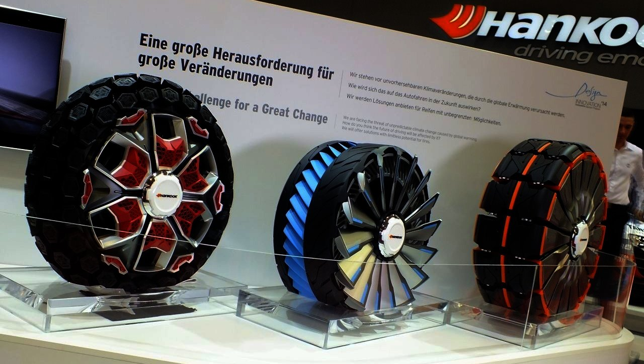 Výstava pneumatik budoucnosti Hankooku