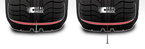 Seal inside technologie pro run-flat dojezdové pneumatiky