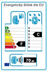 Energetický štítek dle EU Michelin Alpin A4