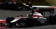 Závodní vozy Formule 1 na okruhu