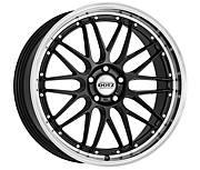 Dotz Revvo dark 8x18 5x120 ET35 Leštěný límec / Metalický šedý lak