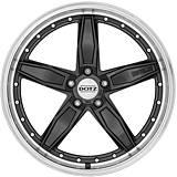 Dotz SP5 dark 8,5x19 5x112 ET25 Černý metalický lak / Leštěný límec