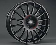OZ SUPERTURISMO GT MB 6,5x15 4x100 ET37 Černý lak / červený nápis