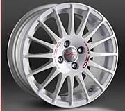 OZ SUPERTURISMO WRC 7x16 4x100 ET37 Bílý lak / červený nápis