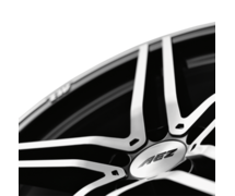 AEZ Portofino dark 7x16 5x112 ET48 Leštěná čelní plocha / Černý lak