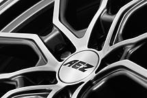 AEZ Raise 8x18 5x108 ET45 Leštěná čelní plocha / Metalický šedý lak