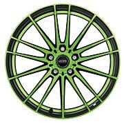 Dotz Fast Fifteen green 8x18 5x112 ET48 Leštěná čelní plocha / Zelený lak / Černý lak