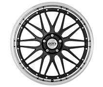 Dotz Revvo dark 9,5x19 5x114,3 ET35 Leštěný límec / Metalický šedý lak