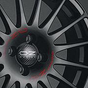 OZ SUPERTURISMO GT MB 7x17 4x100 ET35 Černý lak / červený nápis