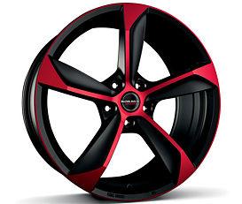Borbet S (BMR) 8,5x19 5x112 ET45 Červená čelní plocha / Černý lak