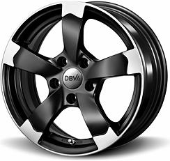 DBV Torino (SMVP) 7x16 5x100 ET38 Leštěné čelní plochy / Černý mat