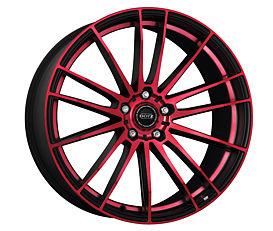 Dotz Fast Fifteen red 8,5x19 5x112 ET35 Leštěná čelní plocha / Červený lak / Černý lak