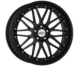 Dotz Revvo black edt. 8,5x20 5x120 ET30 Matně černý lak