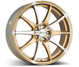 Dotz Shuriken gold 8x19 5x114,3 ET50 Leštěná čelní plocha / Zlatý lak