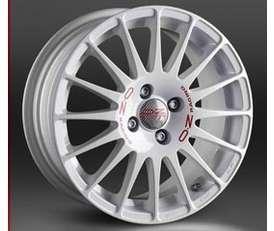 OZ SUPERTURISMO WRC 7x16 4x114,3 ET42 Bílý lak / červený nápis