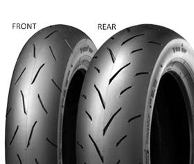 Dunlop TT93 GP 120/80 -12 55 J TL Soft, Zadní Skútr