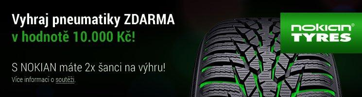 Vyhraj pneumatiky ZDARMA v hodnotě 10000 Kč! S NOKIAN máte 2x šanci na výhru!