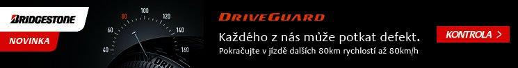 Bridgestone DriveGuard - každého z nás může potkat defekt. Pokračujte v jízdě dalších 80km rychlostí až 80km/h.