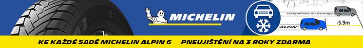 Ke každé sadě Michelin Alpin 6 pneujištění na 3 roky zdarma